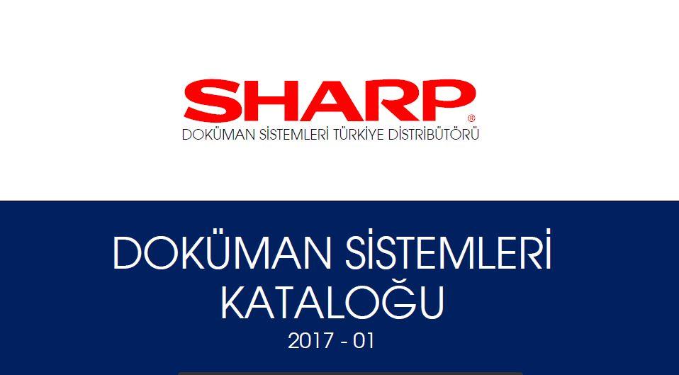 Sharp Fotokopi makinaları ingilizce ve Türkçe Broşürleri